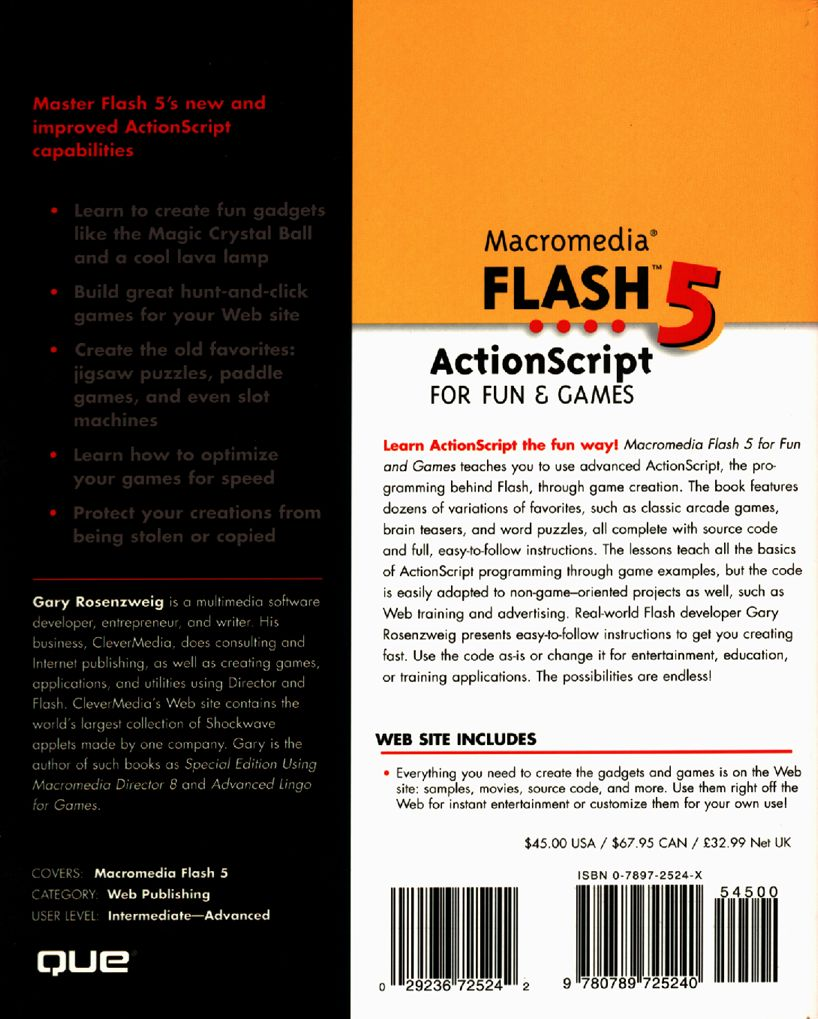 Flash 5 ActionScript for Fun and Games